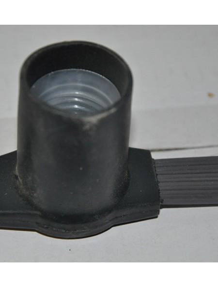 Белт-лайт 2-х проводной черный прорезиненный, расстояние м/у цоколями 20 см, провод черный