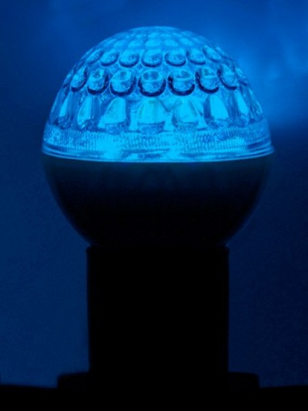 Лампа светодиодная Ø 50 мм, синяя