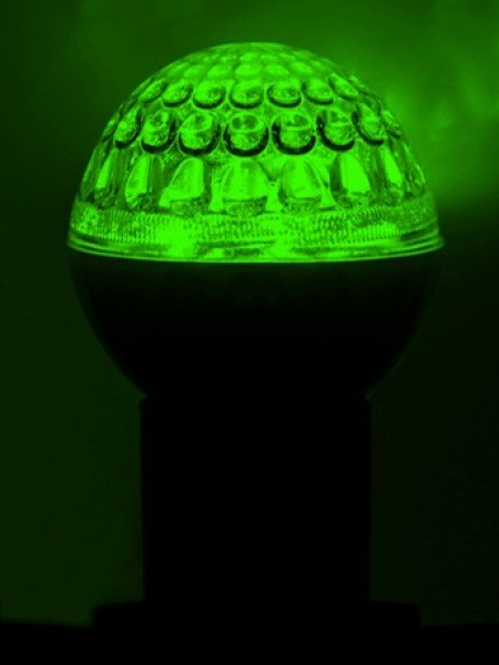 Лампа светодиодная Ø 50 мм, зеленая
