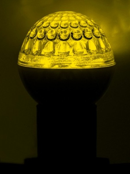 Светодиодная лампа 18 LED. Желтая