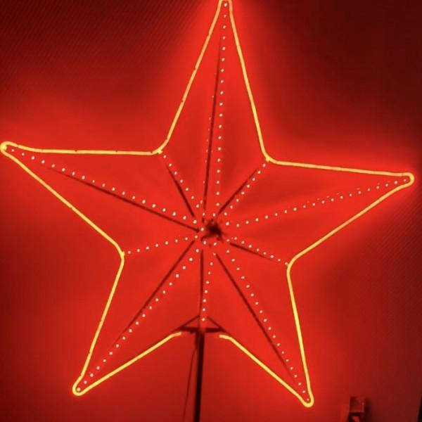 Световая объемная двухсторонняя звезда для елок, 107см*107см