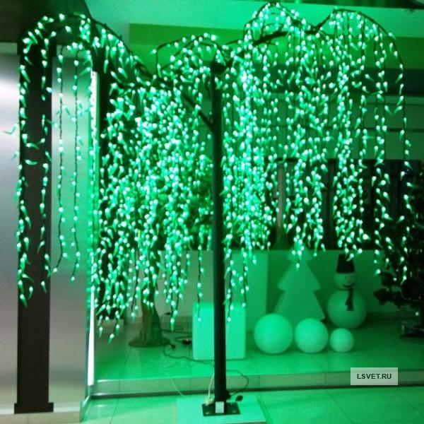 """Световое дерево """"Ива"""" с эффектом водопада"""