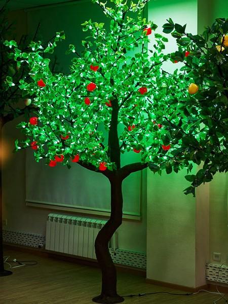 Яблоня 2,5м 1280 светодиодов