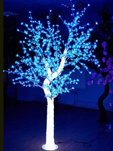 """Световое дерево """"""""CRYSTAL"""" 2,5м 1110 диодов, акриловый световой ствол. Синее"""