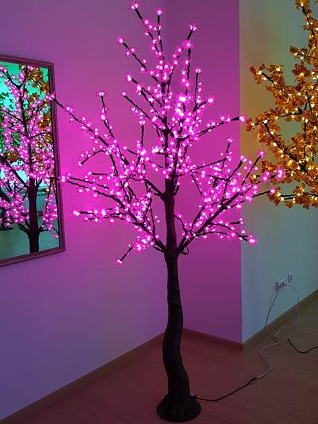 Сакура 2м 640 лепестков. Розовая