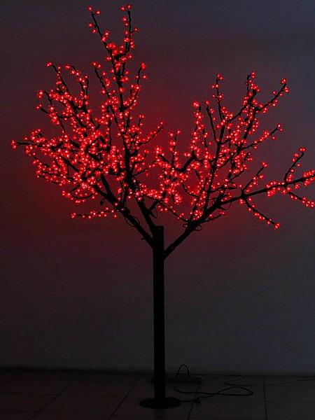 Сакура 2м 864 лепестка. Красная