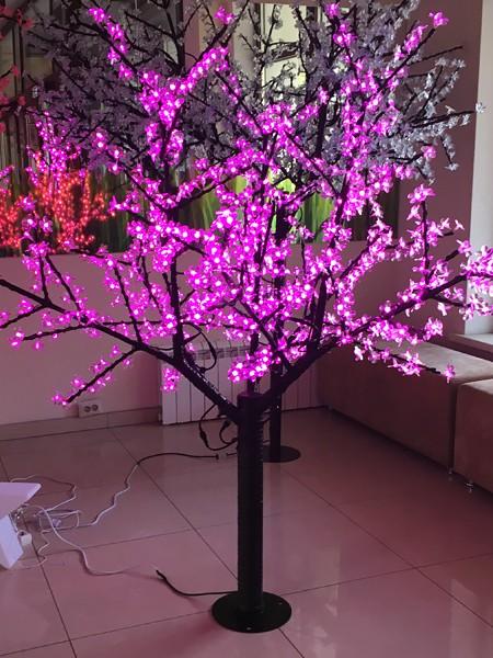 Сакура 2м 864 лепестка. Розовая