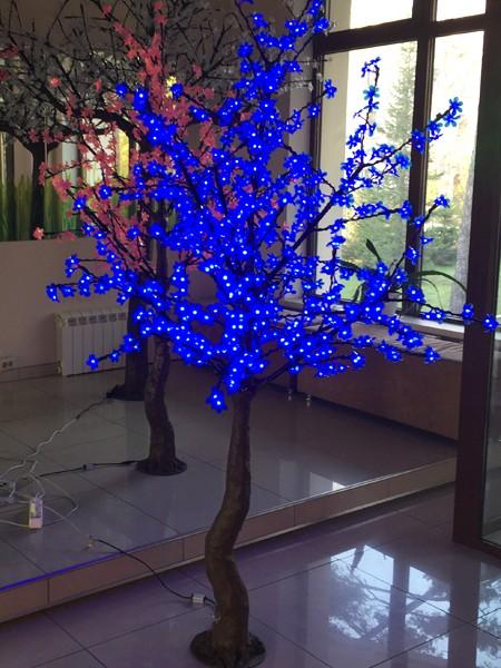 Сакура 2м 640 лепестков. Синее
