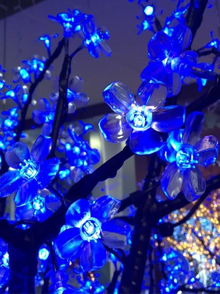Сакура 1,5м 480 лепестков. Синяя