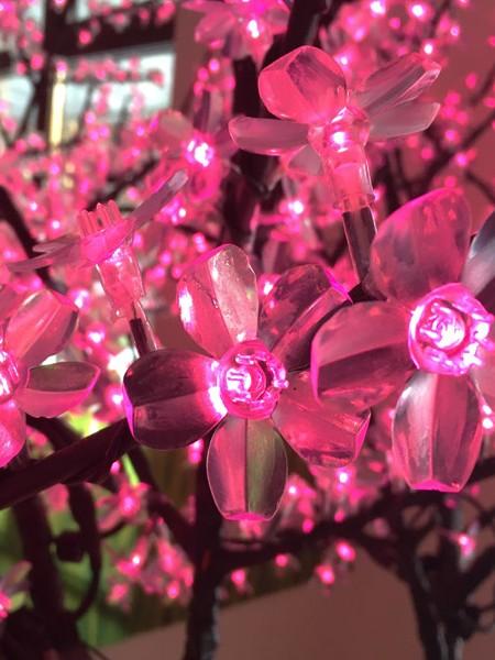 Сакура 2,5м 1728 светодиодов. Розовая