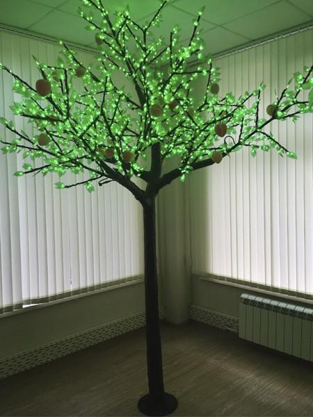 """Световое дерево """"Персик"""" 2,5м 2304 светодиодов"""