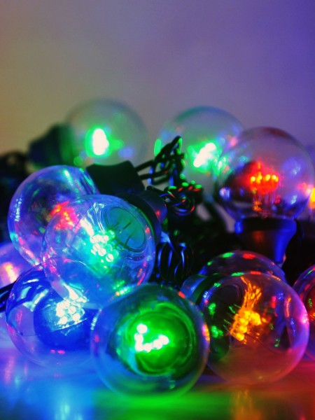 "Гирлянда белт-лайт ""Гэлэкси"" на SMD диодах. Лампы 50мм. Цвет мульти"