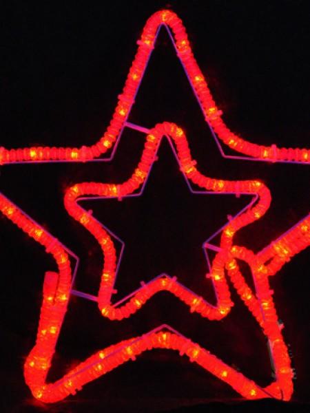 """Светодиодный мотив """"Звезда"""" 56х54см с флеш-эффектом. Красная"""