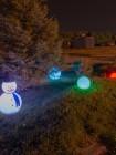 Объемный светодиодный снеговик с подсветкой RGB