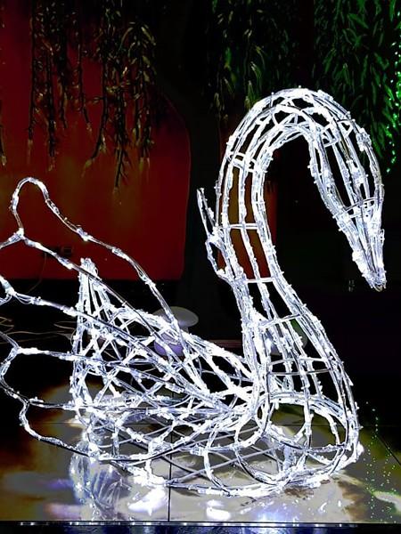 """Световая фигура """"Лебедь"""""""