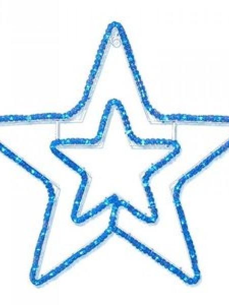 """Светодиодный мотив """"Звезда"""" 56х54см. Синяя"""