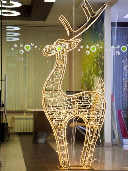 """Объемная световая фигура """"Олень"""" со светодиодной подсветкой, 250 см"""