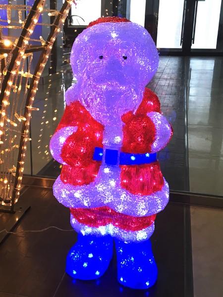 "Акриловая световая фигура ""Дед Мороз с мешком"" 660х270х300мм"