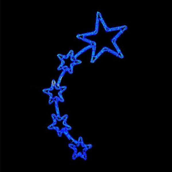 """Световой мотив подвесной """"Пять звезд"""""""