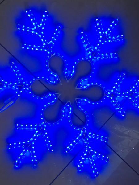 """Светодиодный мотив """"Снежинка"""" 59х69 см. Синяя"""