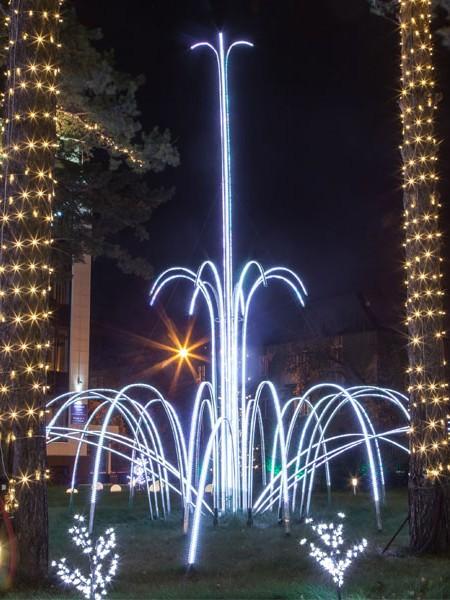 Масштабный светодиодный программируемый фонтан