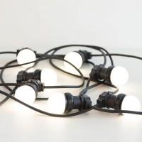 Светодиодная гирлянда - белт-лайт с молочными лампами 50мм. Цвет белый
