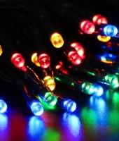 Управляемая RGB-гирлянда на резиновом проводе: 180м с ДУ на елки высотой от 5 до 20м