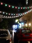 Световая перетяжка 20м из белт-лайта с лампами 50мм с пультом ДУ, цвет белый и тепло-белый