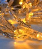 Гирлянда 10м с флеш-эффектом с повышенной степенью защиты. Тепло-белая (желтая)