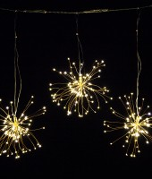 Интерьерная (возможно и на улице) LED гирлянда Одуванчик тепло-белая, 10м