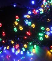 Управляемая RGB-гирлянда на резиновом проводе: 360м с ДУ на елки высотой от 5 до 20м