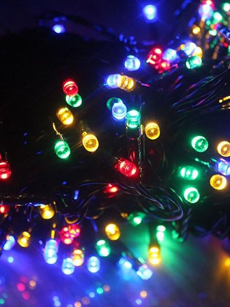 Управляемая RGB-гирлянда длиной 360м с пультом ДУ на елки высотой от 5 до 20м