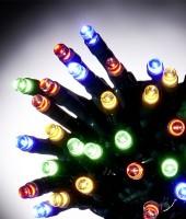 Управляемая RGB-гирлянда длиной 90м с пультом ДУ на резиновом проводе