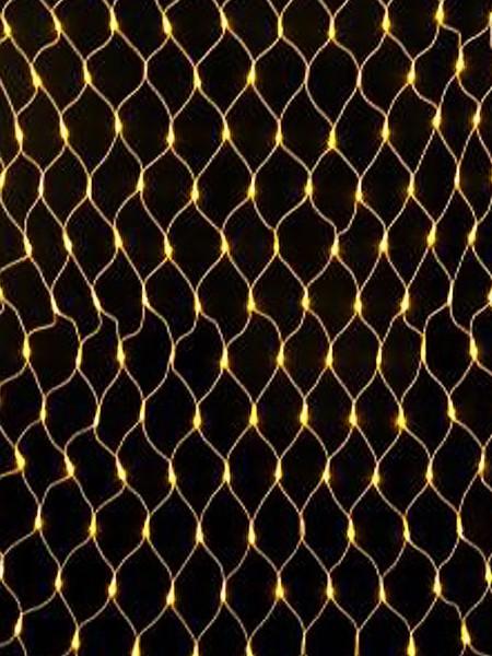 Светодиодная сеть 2.5 х 1.2 м на прозрачном проводе. Тепло-белая