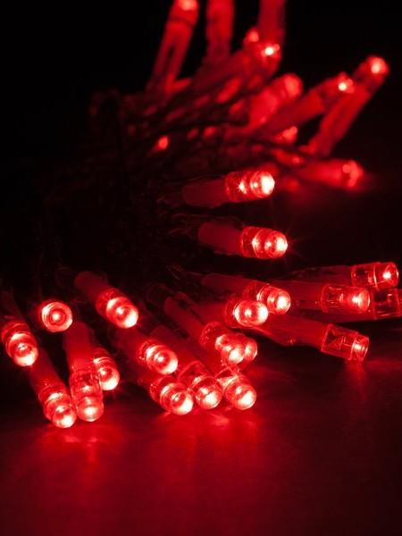 Уличная светодиодная гирлянда 10м Красная с повышенной степенью защиты