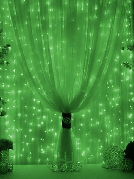 Гирлянда 10м с флеш-эффектом с повышенной степенью защиты. Зеленая