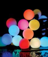 Комплект управляемой RGB гирлянды с лампами 50мм длиной 80м на ель 10м