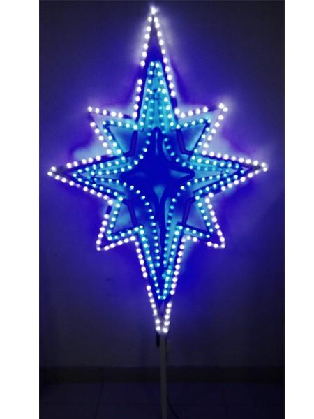"""Световая объемная макушка для ели """"Звезда"""" светодинамическая, двухсторонняя"""