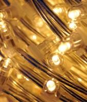 Светодиодный клип-лайт для светового украшения деревьев. Желтый (теплый белый)