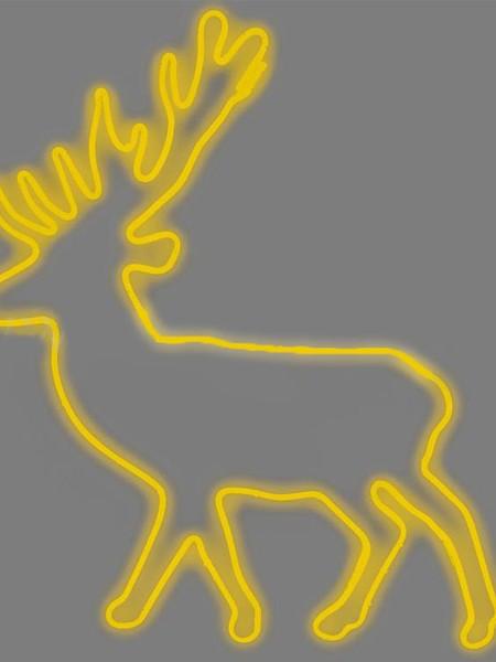 """Светодиодный мотив """"Северный олень"""", 1,0*1,1м, желтый"""