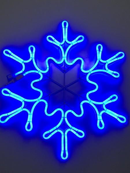 "Светодиодный двухсторонний мотив ""Снежинка"" 49х42 см. Синяя"