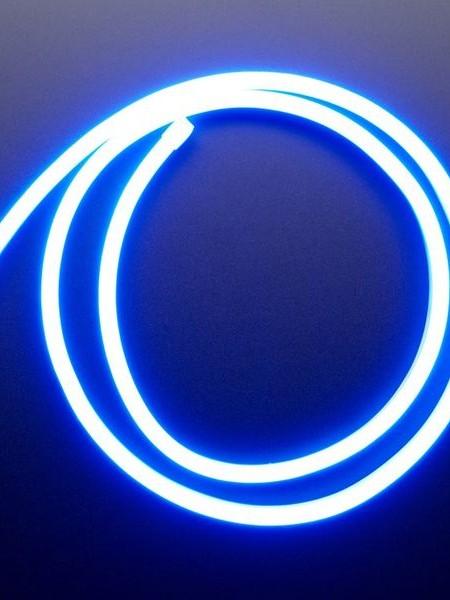 Гибкий неон 6x12мм, 12В. Синий