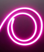 Гибкий неон МИНИ 8x16мм, 12В. Розовый