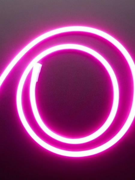 Гибкий неон 6x12мм, 12В. Розовый