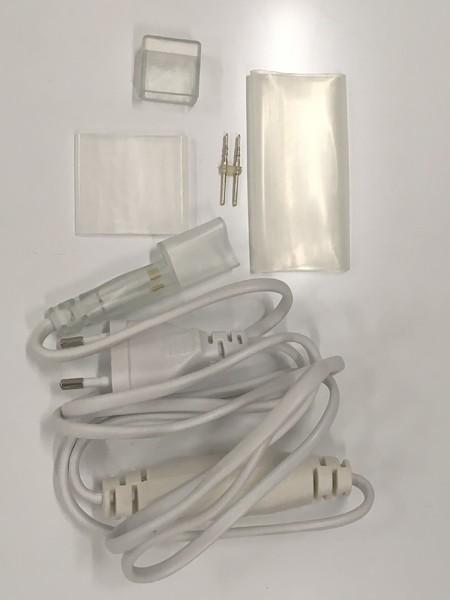 Комплект подключения для одностороннего гибкого неона 8х16мм