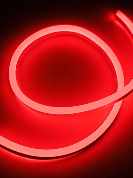 Гибкий неон SMD 2835,15х26мм ПРОФЕССИОНАЛЬНЫЙ. Красный