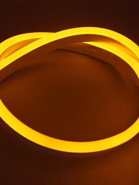 Гибкий неон SMD 2835,15х26мм ПРОФЕССИОНАЛЬНЫЙ. Желтый