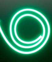 Гибкий неон МИНИ 8x16мм, 12В. Зеленый