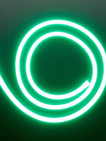Гибкий неон 8x16мм, 12В. Зеленый