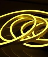 Гибкий неон МИНИ 8x16мм, 220В. Желтый